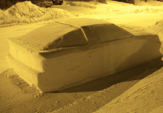 Policeman Tries To Give Car Made Of Snow A Parking Ticket
