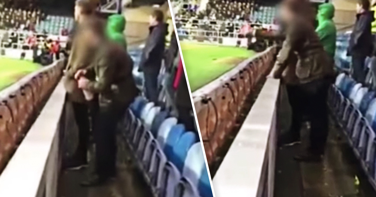 Football Fan Arrested For Urinating In Goalkeepers Water Bottle goal keeper wee wee fb youtube