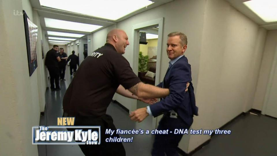 Jeremy Kyle Show Chaos As Jeremy Just Avoids Serious Injury nintchdbpict000377750064