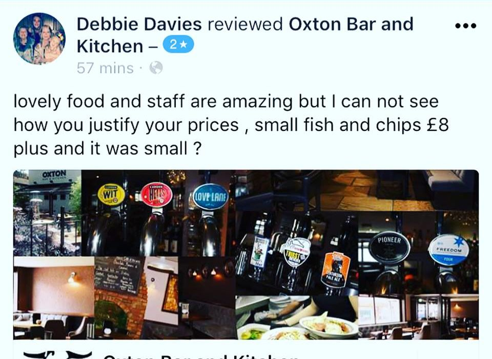 Restaurants Perfect Response To Womans Complaint About Paying £8 For Fish And Chips oxton 960x700