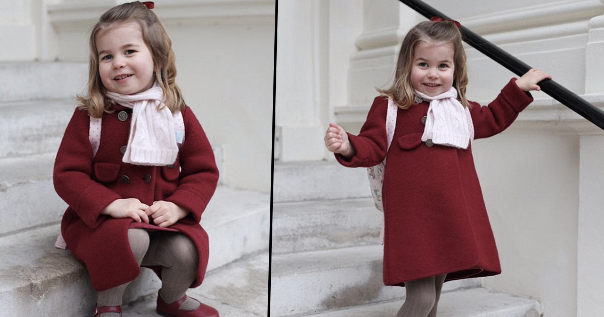 Princess Charlotte Heads Off For First Day At Nursery princess charlotte first day nursery fb