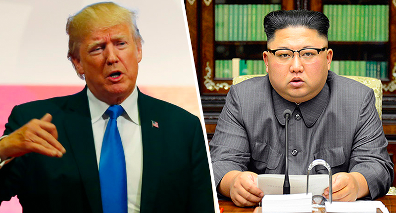Trump Taunts North Korea With Threat Of Nuclear War In Childish Tweet trump kim button fb