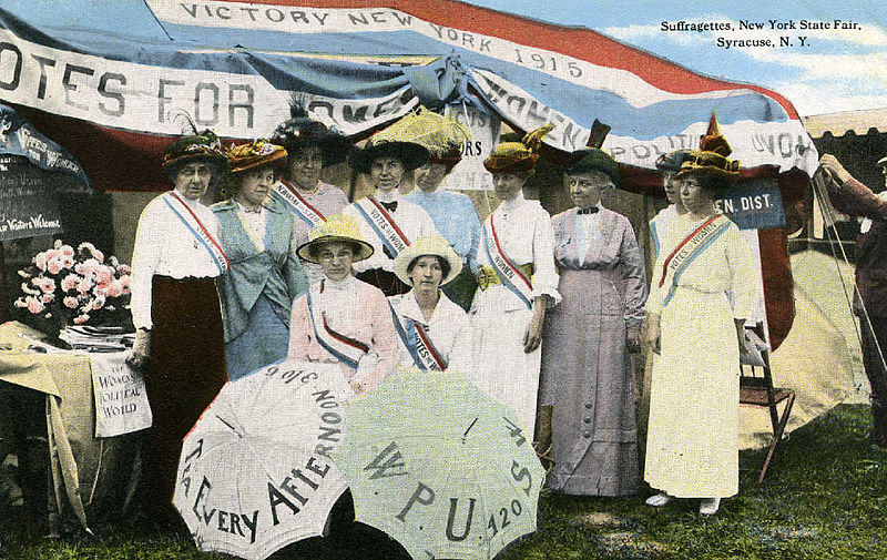 All Female Crew Landed Plane In Country They're Not Allowed To Drive In 800px Nystatefair 1915 suffragettes