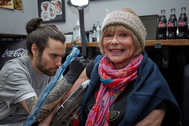Professor Green And His Nan Help Open Tattoo Parlour For Over 70s %name
