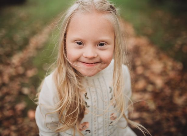 Smiling Six Year Old With Downs Syndrome Chosen For River Island Campaign Cora Bishop model for River Island 2