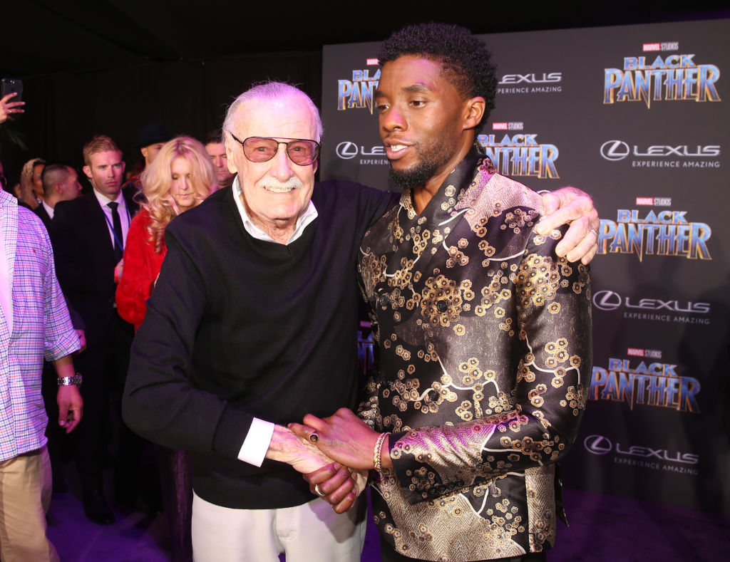 stan lee chadwick boseman black panther marvel mcu