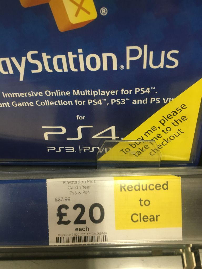 Tesco Selling Xbox Live And PlayStation Plus Memberships Insanely Cheap PS Plus discount 2