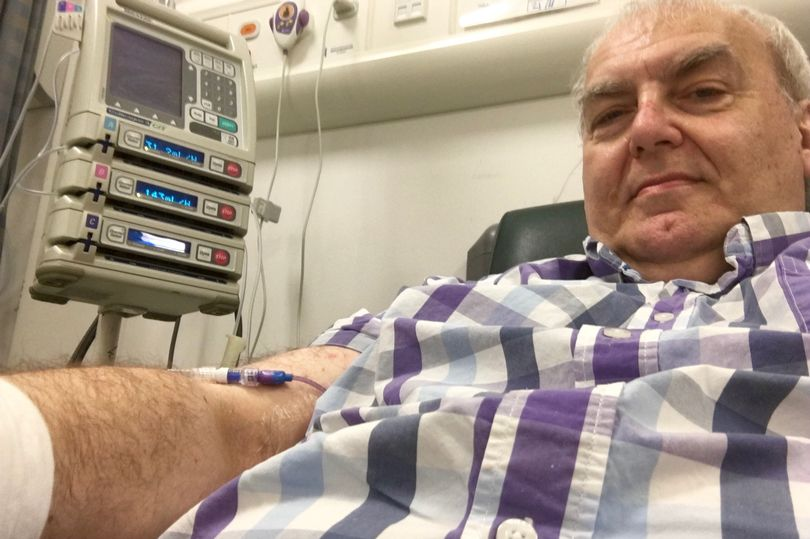 Cancer Patient Buys Own Chemotherapy Machine As Hospital Cant Afford It SWNS PUMP EBAY 02