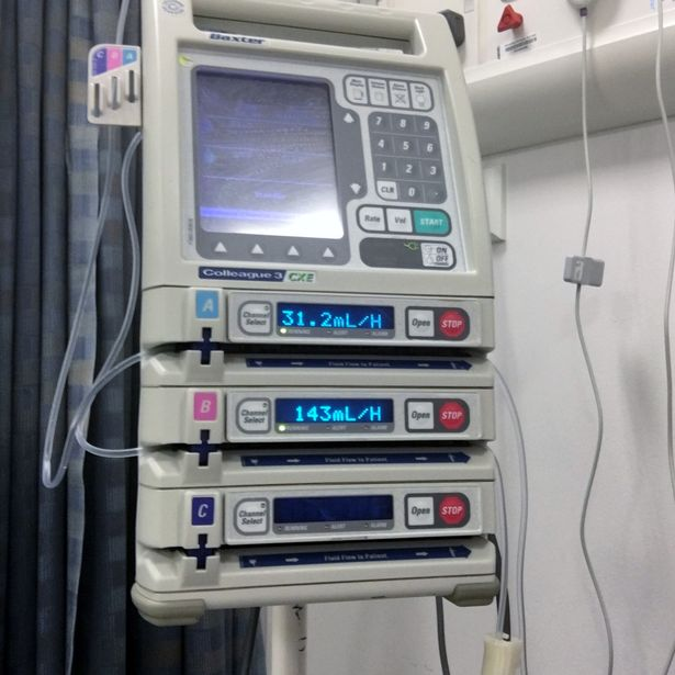 Cancer Patient Buys Own Chemotherapy Machine As Hospital Cant Afford It SWNS PUMP EBAY 04