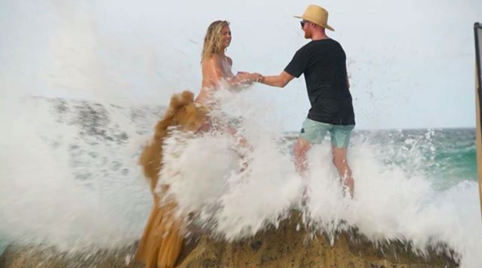 Kate Upton Swept Off Rock By Big Wave During Topless Photoshoot Screen Shot 2018 02 14 at 08.19.49