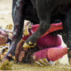 Matador Brutally Gored In The Bum By Wounded Bull During Fight