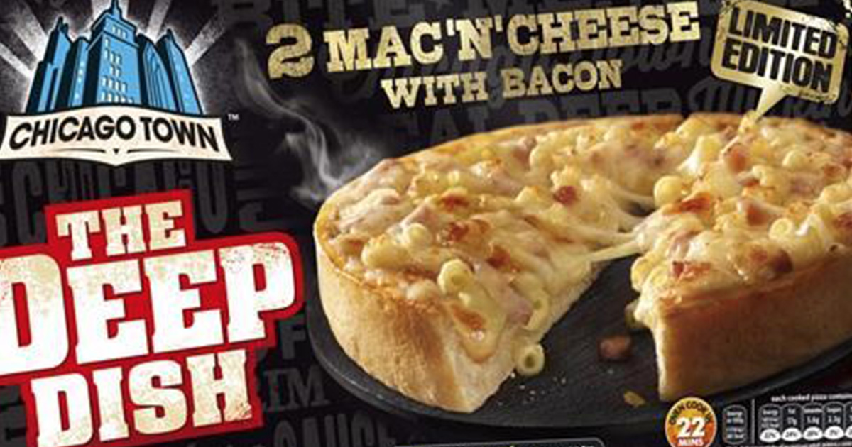 Chicago Town Launch £1 Mac N Cheese Pizza chicagotownFaceThumb