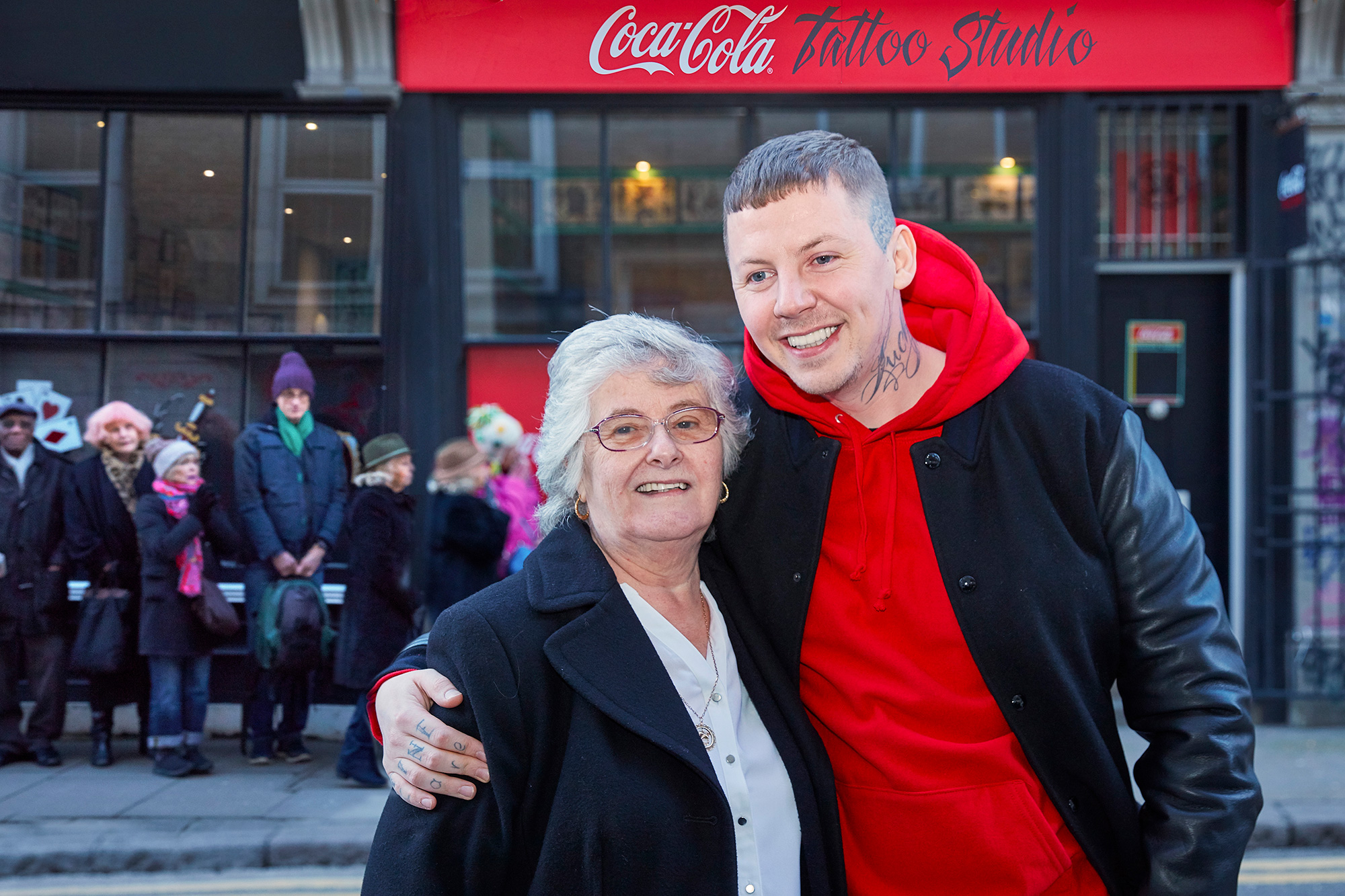 Professor Green And His Nan Help Open Tattoo Parlour For Over 70s hero 8 coke cola