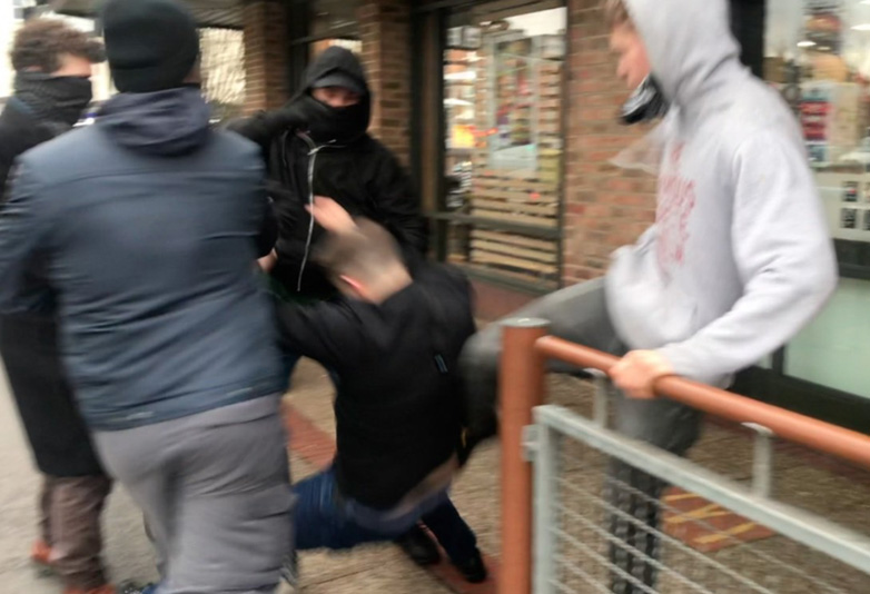 EDL Founder Tommy Robinson Violently Attacked Outside Of McDonalds EDL web
