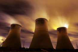 WARRINGTON, UNITED KINGDOM - NOVEMBER 16: The coal fueled Fiddlers Ferry power station emits vapour into the night sky on November 16, 2009 in Warrington, United Kingdom. As world leaders prepare to gather for the Copenhagen Climate Summit in December, the resolve of the industrial nations seems to be weakening with President Obama stating that it would be impossible to reach a binding deal at the summit. Climate campaigners are concerned that this disappointing announcement is a backward step ahead of the summit.