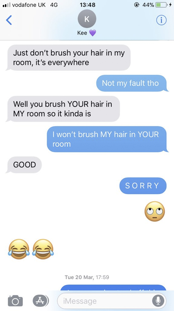 Guy Sends Most Brutal Text To Girlfriend After Finding Hair