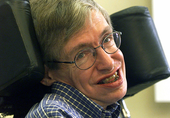 Professor Stephen Hawking was on The Big Bang Show