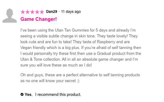 You Can Tan By Eating Gummy Bears At Superdrug Screen Shot 2018 03 20 at 18.42.36