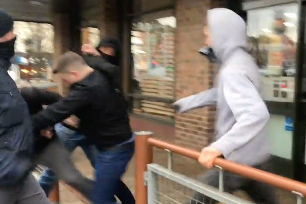 EDL Founder Tommy Robinson Violently Attacked Outside Of McDonalds Tommy Robinson 2