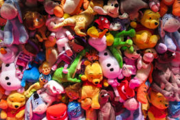 Toys in a pile