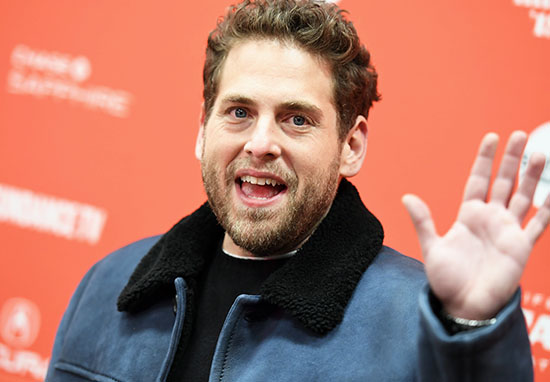 Actor Jonah Hill has pink hair now
