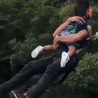Dad Bungee Jumps Off 200ft Bridge Holding Toddler Daughter