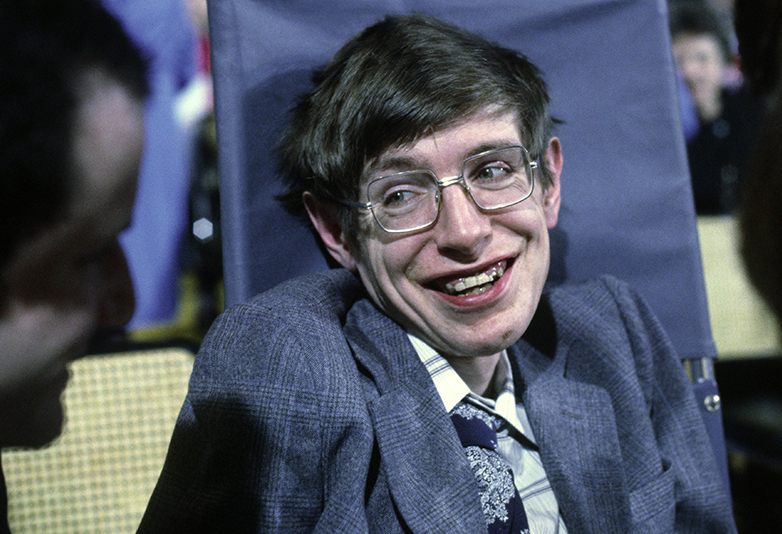 Stephen Hawking when he was younger