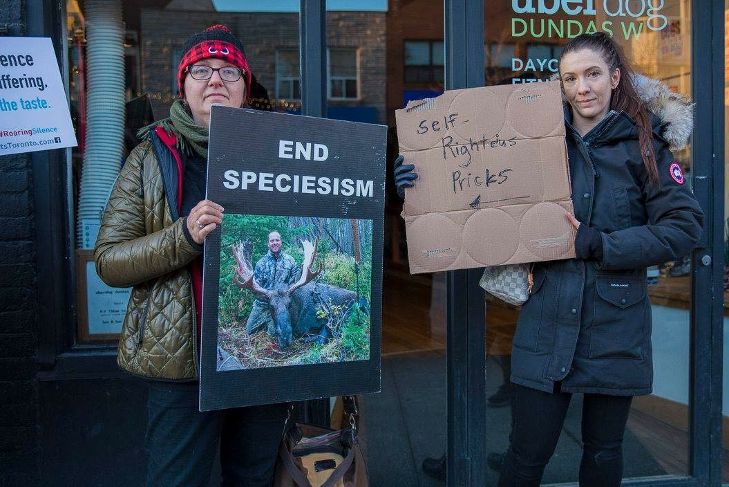 end speciesism vegan protest UNILAD