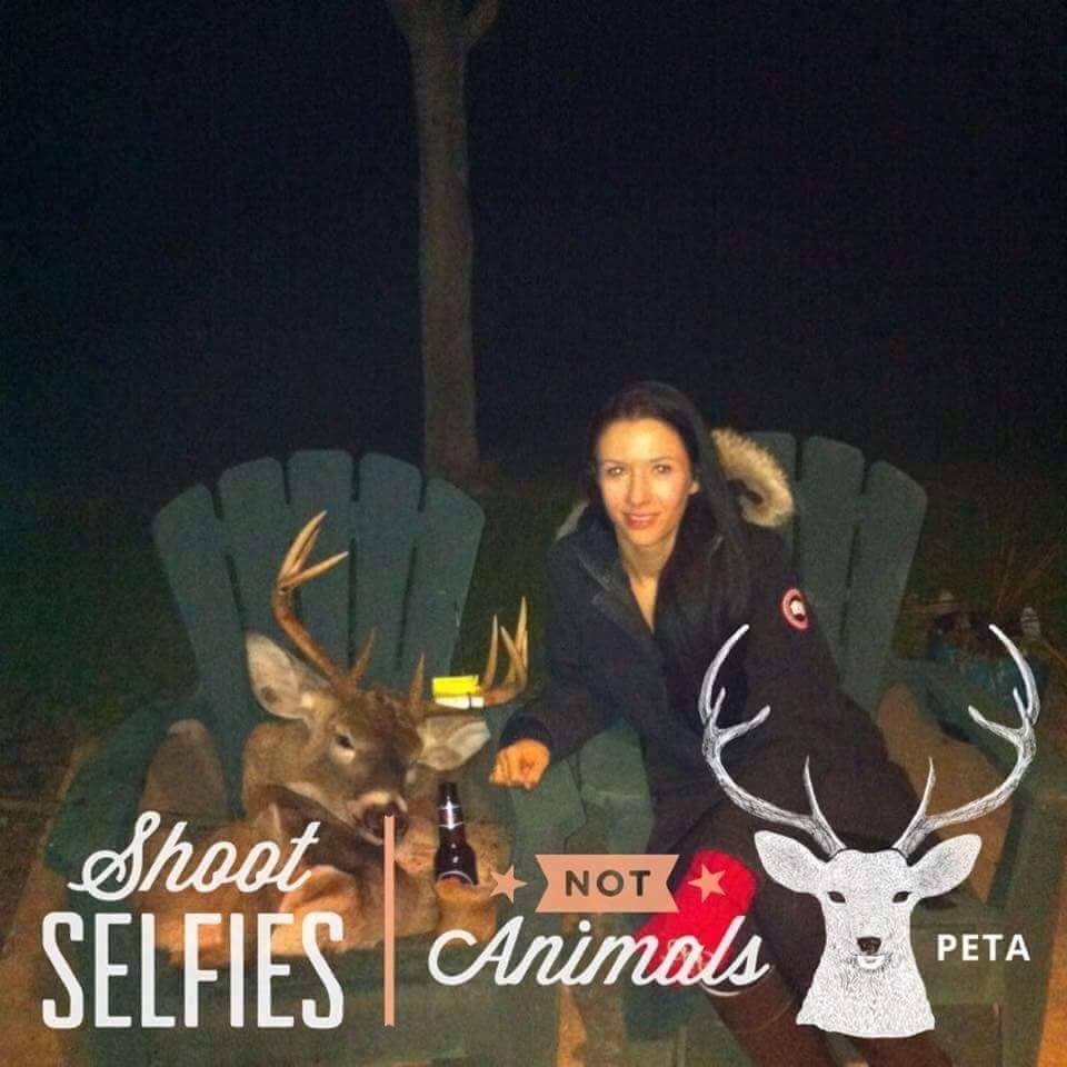 shoot selfies not animals PETA