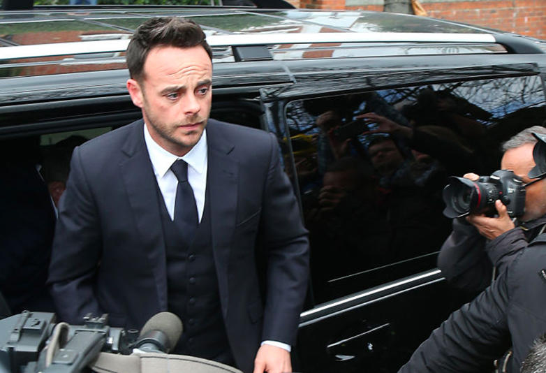 ant mcpartlin arrives Wimbledon magistrates court