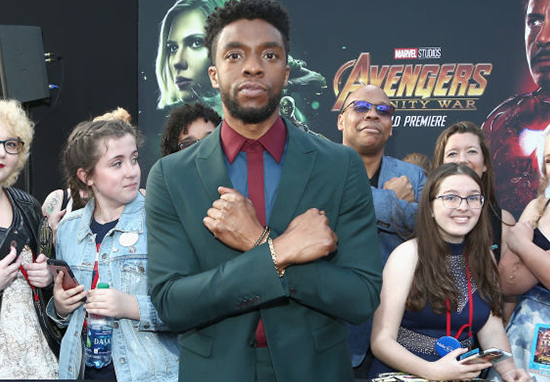 Chadwick Boseman Gets Turned Into A Meme At Infinity War Premiere