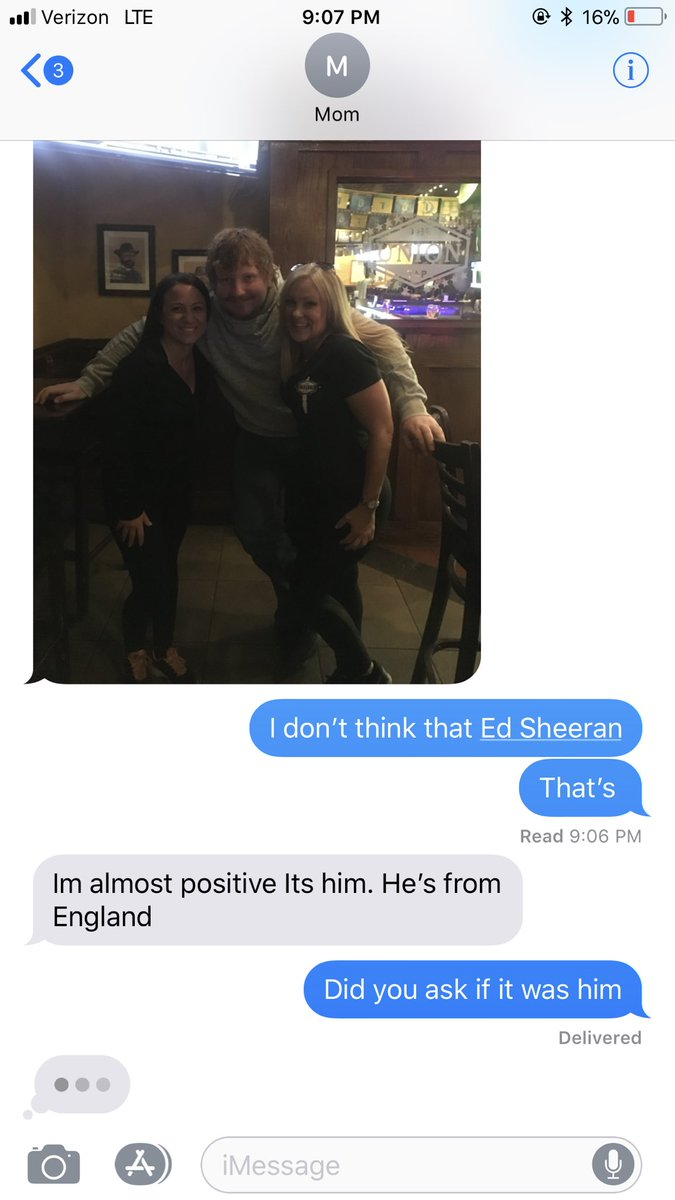 Mum Mistakes Random Ginger Guy In Pub For Ed Sheeran