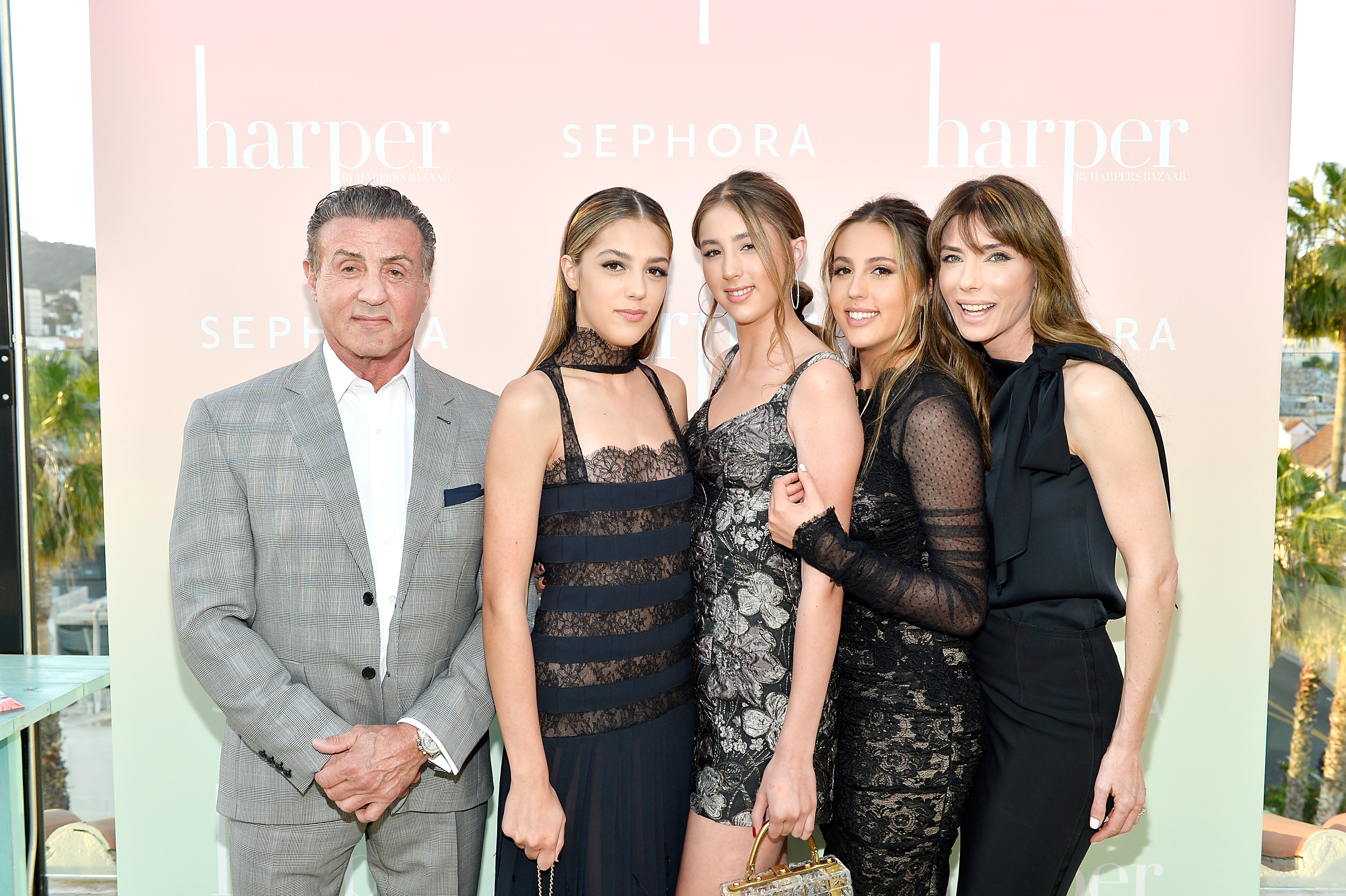 Sylvester Stallone; Sistine Stallone; Scarlet Stallone; Sophia Stallone and Jennifer Flavin Stallone
