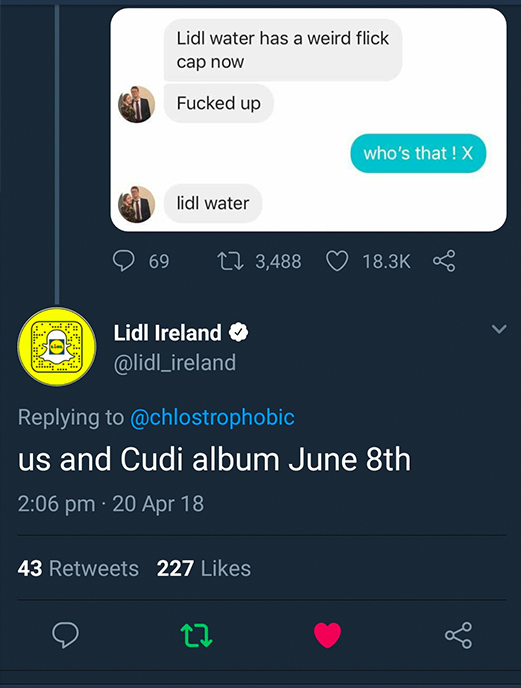 Girl's Mistakes Lidl Water For Rapper In Hilarious Text To Boyfriend