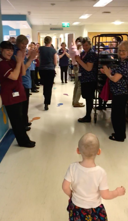 3 Year Old Cancer Patient Getting All Clear Brings Whole Hospital To Tears Meadow4