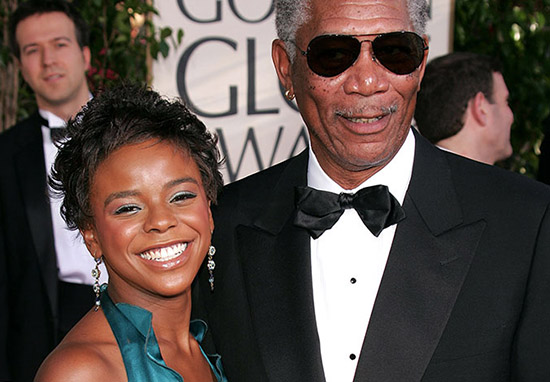 Morgan freeman and step-grandaughter