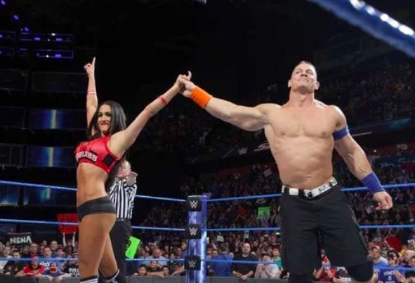 professional wrestlers john cena and nikki bella got engaged in the ring at wrestlemania 33
