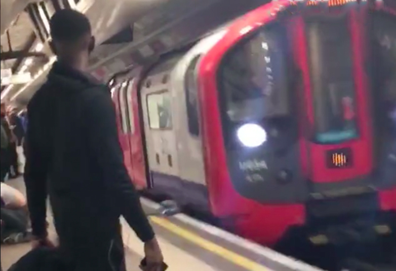 Terrifying Footage Shows Two Drunk Men Falling In Front Of London Train Train5