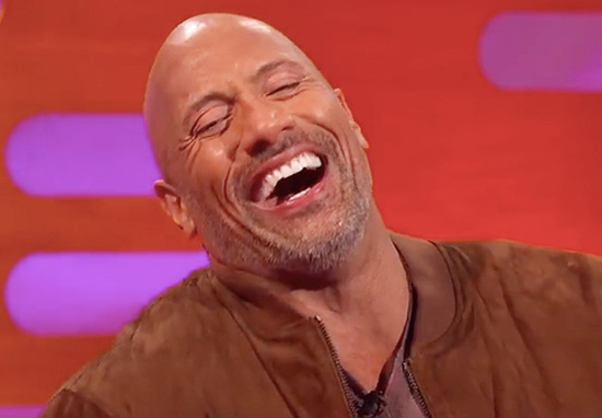 the rock laughing graham norton show