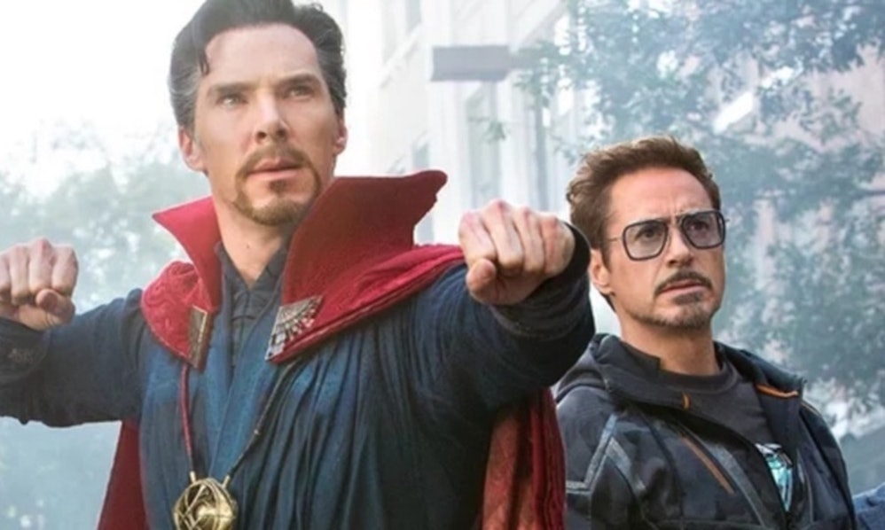 Doctor Strange and Iron Man Tony Stark in Avengers: Infinity War