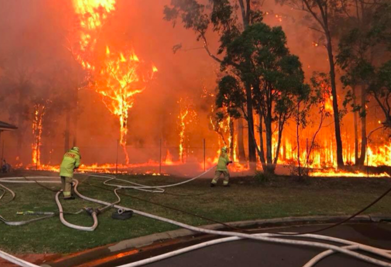 Out Of Control Bush Fire Spreads Towards Nuclear Reactor In Sydney fire web