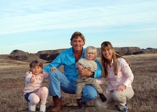 The Irwin family in a photograph taken before Steve's death in 2006
