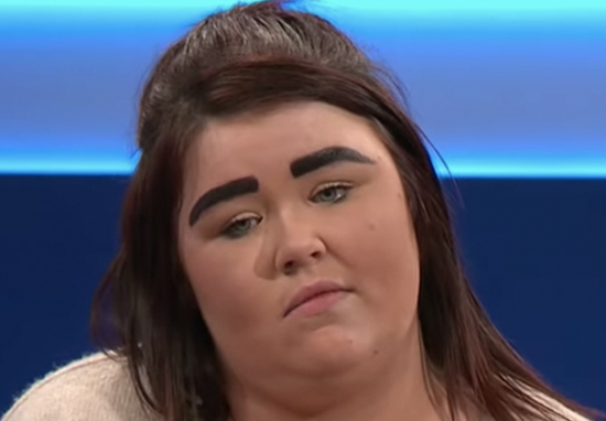 Guest Morgan on The Jeremy Kyle Show shamed for eyebrows