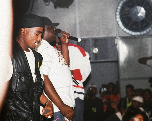 2pac and The Notorious B.I.G. on stage