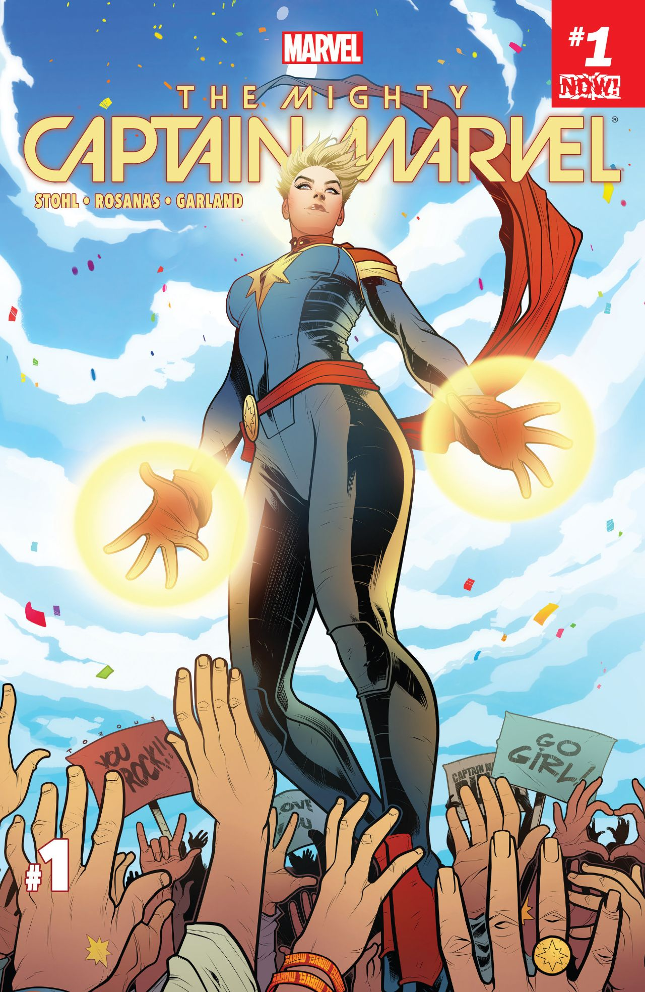 The Mighty Captain Marvel comic cover