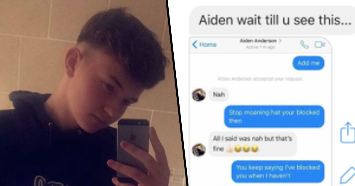 Mum Sends Incredibly Awkward Messages To Random Person She Thought Was Son Aiden face