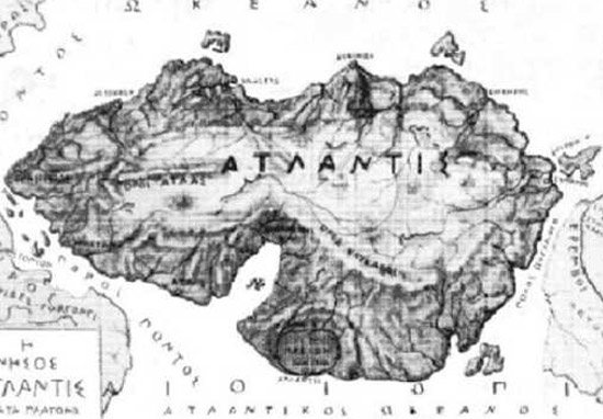 a map of the Lost city of Atlantis