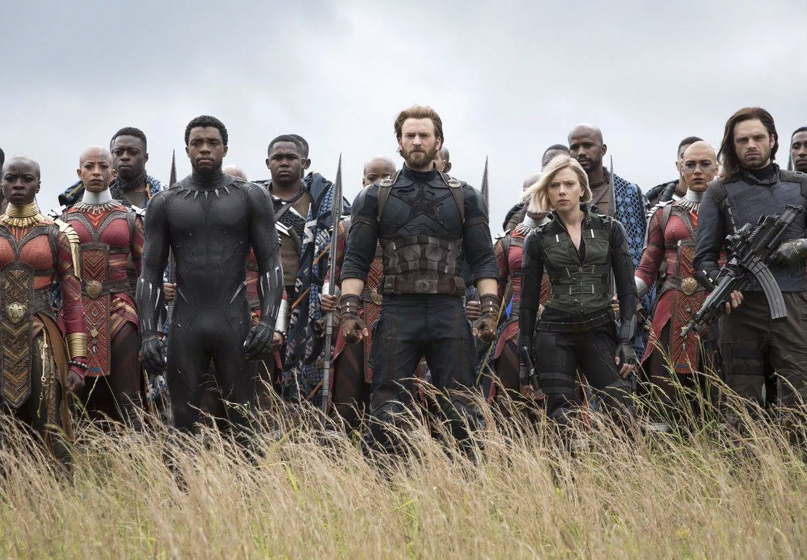Avengers: Infinity War Black Panther, Captain America, Black Widow, Bucky