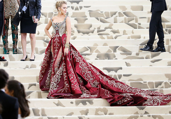 Blake Lively' at the met Gala