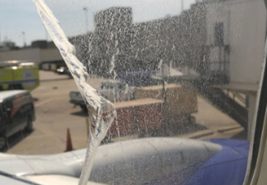 Plane forced to land due to broken window
